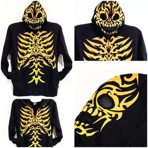 FSD Full Zip & Mask Skeleton Hoodie Size L Kids